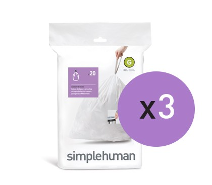 Wakefords Simple Human 30L Bin liner code G
